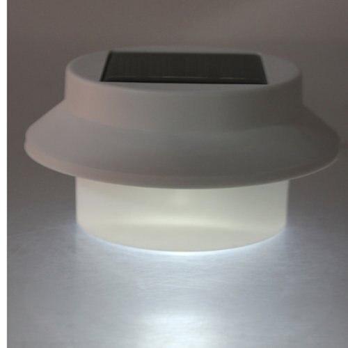 6X солнечной энергии 3 светодиодный желоба Забор света открытый стены, крыша сад лампы освещения
