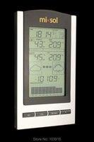 10 единиц беспроводной термометр, Беспроводная метеостанция с наружной температурой и датчиком влажности ЖК-дисплей, барометр