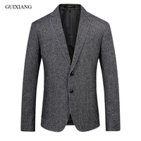 New arrival Spring and Autumn style men boutique woolen balzers high quality business casual slim solid suit coat size S 2XL