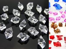 Фотография 500 grams Acrylic Scatter Crystal Nuggets Ice Confetti Wedding Vase Filler, 5 Colors As Options
