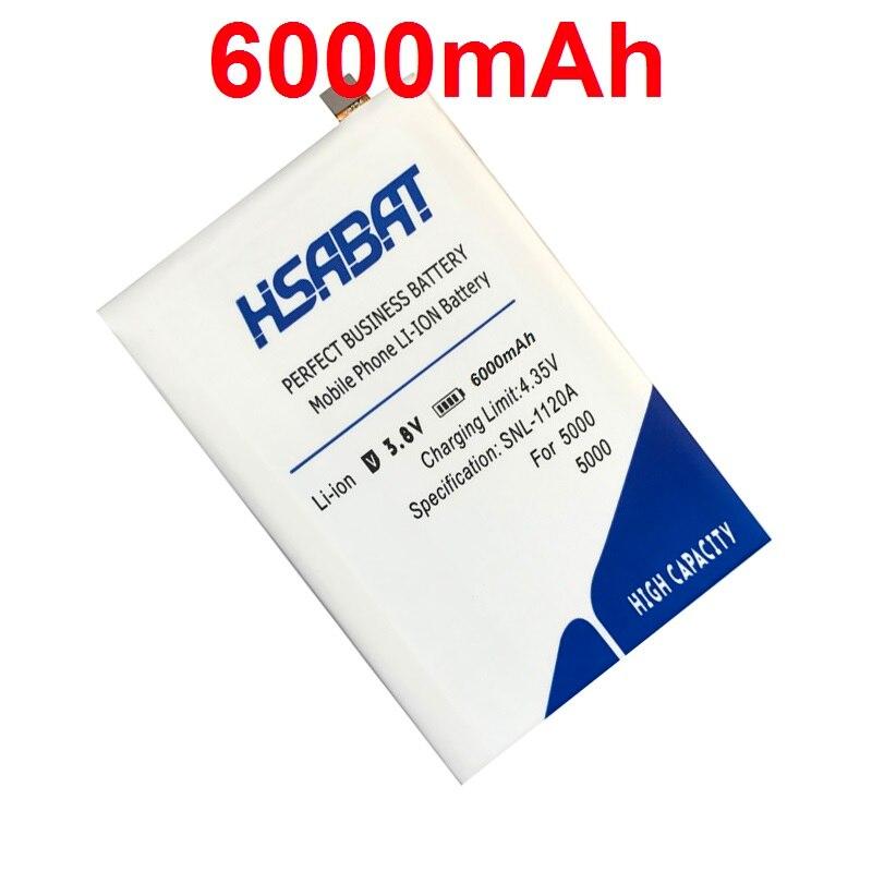 imágenes para HSABAT 100% Nueva 6000 mAh Batería Del Teléfono Móvil para THL 5000 THL5000 Baterías