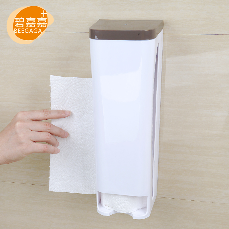 BEEGAGA Seamless Sticker Grocery Bag Holder Plastic Bag Storage Box Wall  Mount Kitchen Organizer Recycle Shopping Bag Rack New In Racks U0026 Holders  From Home ...