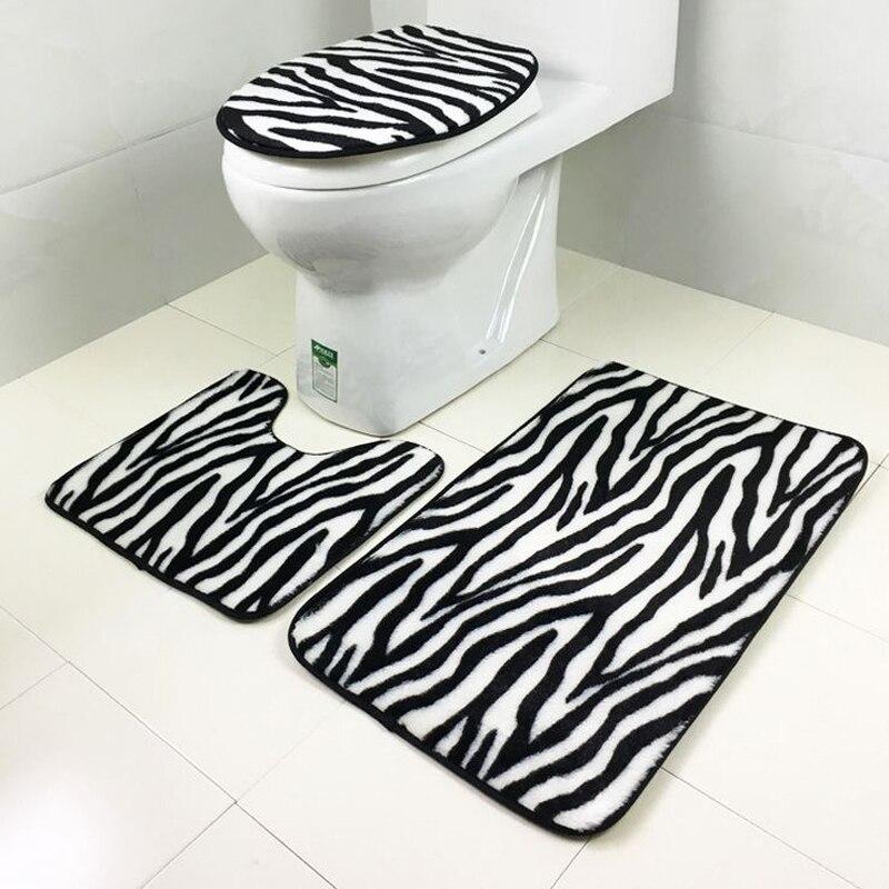 1 Set Washable Bathroom Carpet Toilet Seat Cover Toilet Bath Shower ...