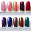 Focallure Brand Professional Gel Nails High Quality Top Base Coat With Pigment Blue Sky Color Glitter Paint 3D Nail Gel