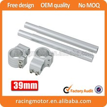 A Pair Silver Motorcycle  Racing  Billet CNC 39mm Clip On Handlebars 1″ Bar Fits For Harley Sportster Nightster Iron
