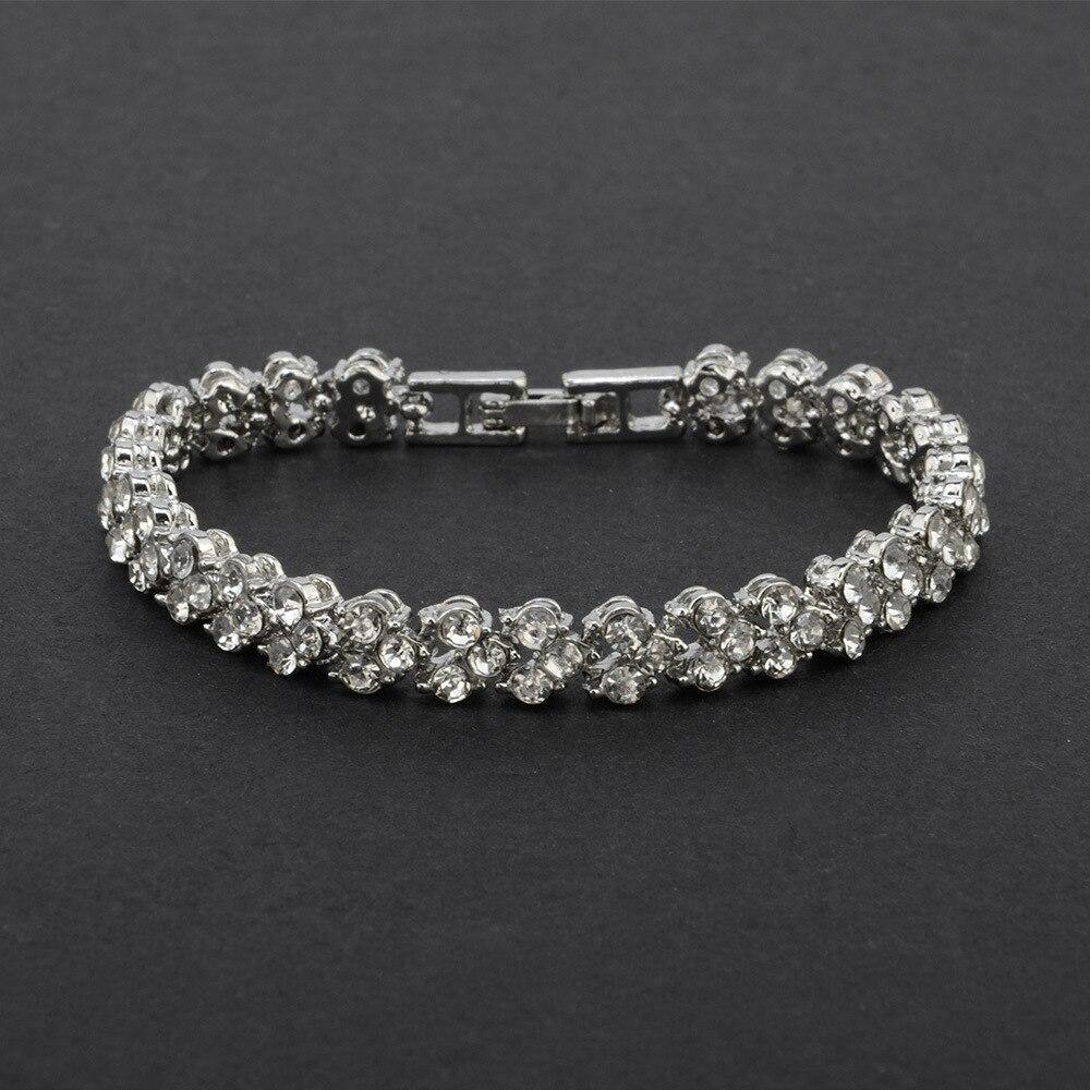 4378790119_873398036 - DIEZI Exquis Luxe, Bracelet En Cristal Romain, Rose Or Argent Couleur ,