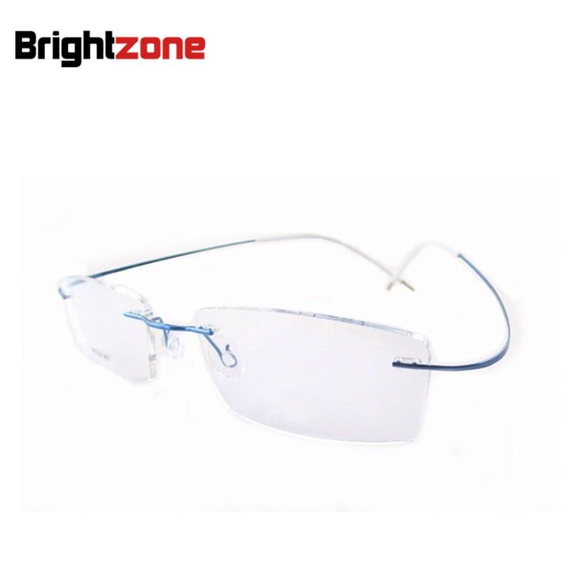 Meilleur Vente Poids Léger Flexible Sans Monture Non-vis 6g Lunettes  Lunettes Prescription Pur B-Titane Optique Cadre lunettes 58148fb28092