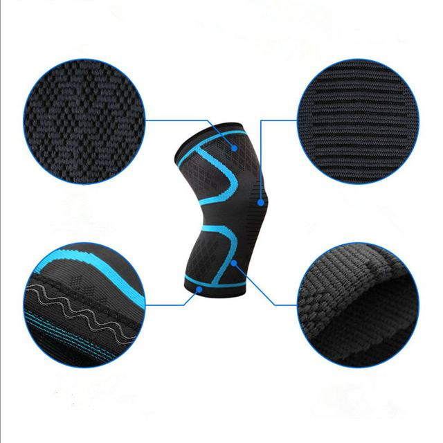1PC Fitness Running Cycling Knee Support Braces Elastic Nylon Sports safety Compression Knee Pad Sleeve Basketball Volleyball 4