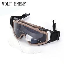 Tático Paintball Airsoft Óculos anti nevoeiro Ballistic Óculos De Proteção  Para Capacete TAN PRETO(China ca044405bc