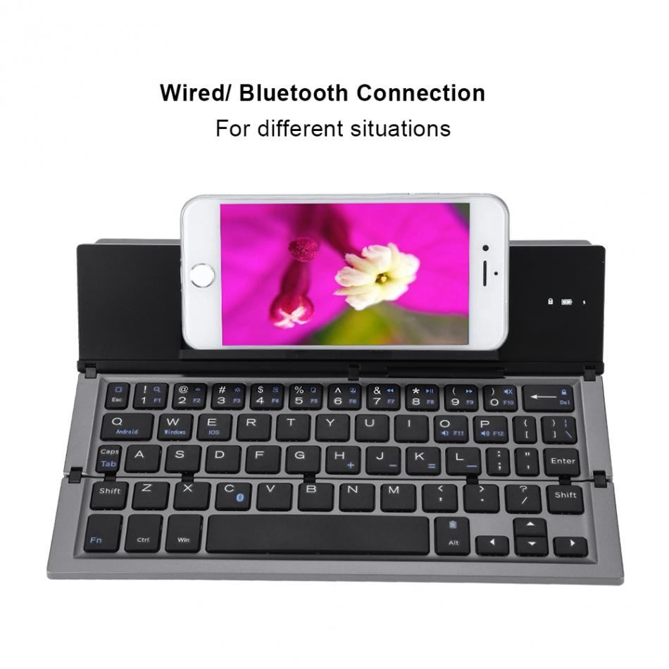 US $34 88 29% OFF|X structure Keys Bluetooth Keyboard Portable Folding  Wireless Keyboards with 58 Keys 40 Working Hours for Tablet Laptop  Desktop-in