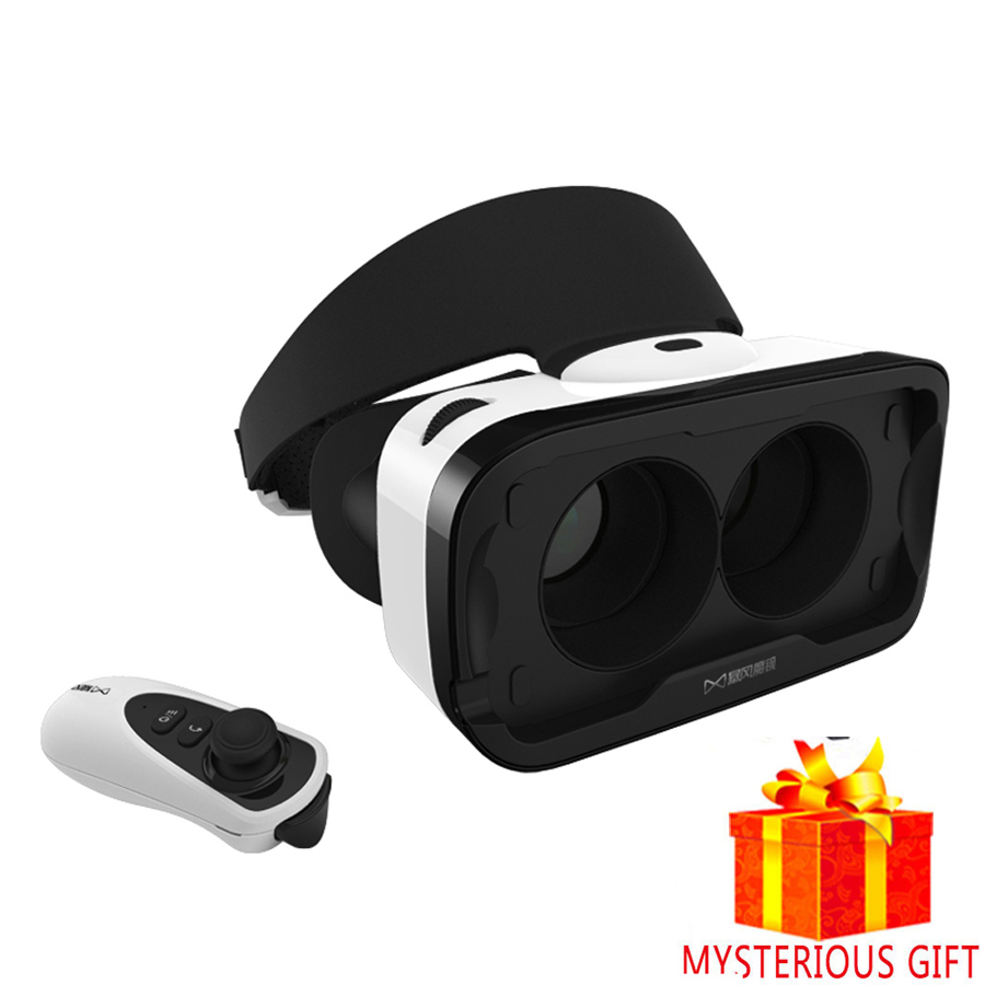 Casque VR 3 D 3D Virtual Reality Glasses Stereo Goggles Headset Helmet For iPhone Smartphone Smart Phone Gerceklik Box Lense Len