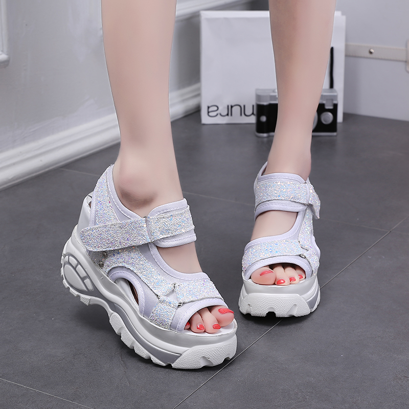 Women Sandals 2017 Harajuku Summer Platform Shoes Woman Open Toe Thick Sole Casual Shoes Ladies Creepers Zapatos Mujer Sandalias women shoes summer women sandals 2017 peep toe gold silver roman sandals shoes platform brand creepers woman sandalias size 43