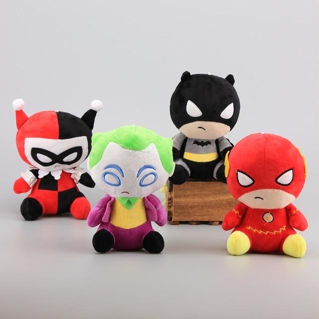 4 estilos Figuras de Super-heróis Da Liga Da Justiça de Pelúcia Brinquedos Flash & Joker Batman Harleen Quinzel 18 Stuffed Dolls Caçoa o Presente- 20 cm