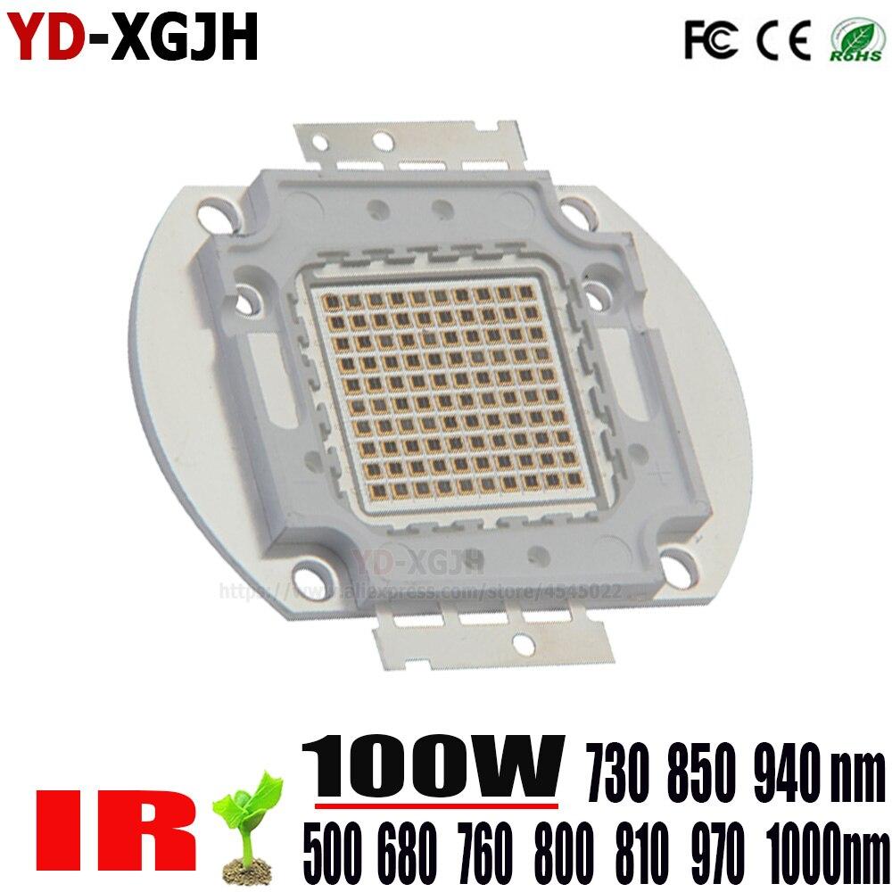 Haute puissance puce LED 500nm 730nm 850nm 940nm 1000nm IR LED infrarouge 3 W 5 W 10 W 20 W 30 W 50 W émetteur lumière pour 100 W lampe LED perles