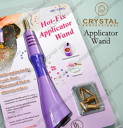 Purple ( 7 Tips ) Hotfix Rhinestones Applicator Wand Machine Hot-fix Iron  On Crystal 1de103c79b70