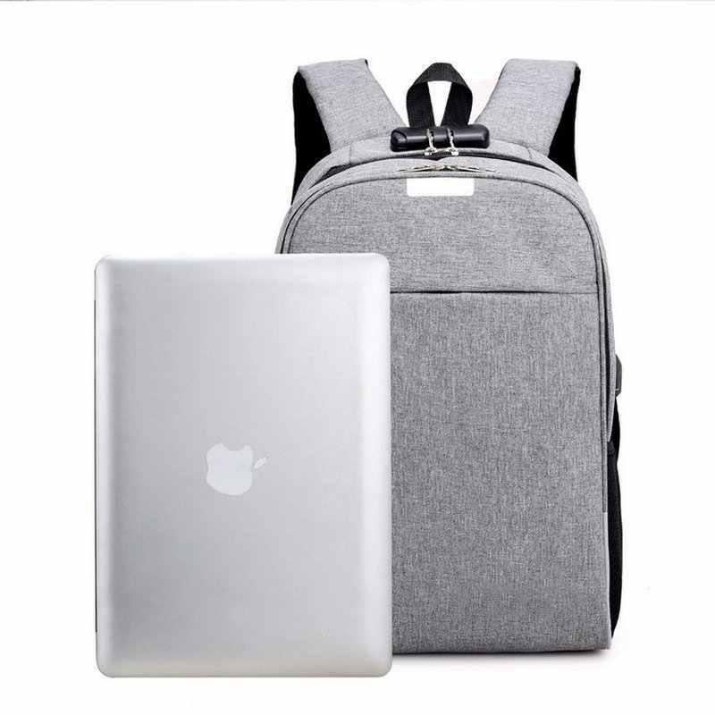 Мужской рюкзак с защитой от кражи, usb рюкзак для ноутбука, холщовые школьные сумки для мальчика-подростка, средний Школьный рюкзак, рюкзак для мужчин 2018