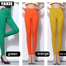 Plus size 5XL 18 Colors Candy Color Leggings For Women 2017 Summer High Waist Stretch office Girls Skinny Leggings Female pants