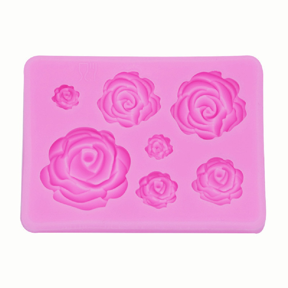 1Pc Rose Flowers Silicone Mold Cake Chocolate Mold Wedding Cake Decorating Tools Fondant Sugarcraft Cake Mold Baking Pastry Tool in Cake Molds from Home Garden