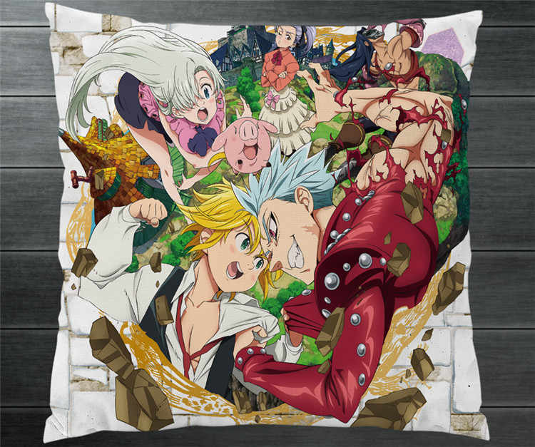 d55ccf35db3 Detail Feedback Questions about Anime The Seven Deadly Sins Meliodas  Elizabeth Liones Diane Two Side 40x40cm Pillowcase Manga Pillow Case Cover  Cosplay Gift ...