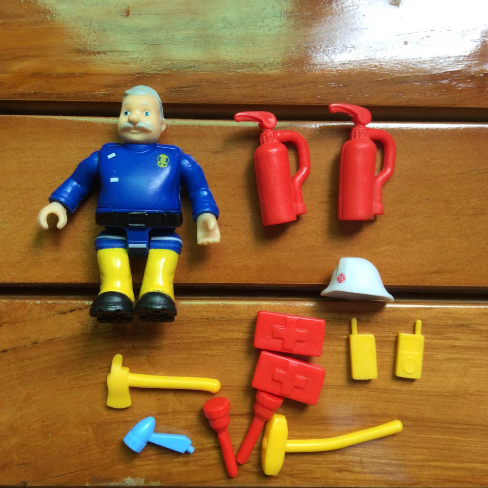 1Set with accessory fireman sam action PVC Figure toy