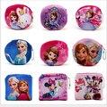 10.5*10.5cm Cute Cartoon Animal Coin Purse Girls Mini Wallets Kids Key Bags Elsa Anna Big Hero Printing Small Handbags Wholesale