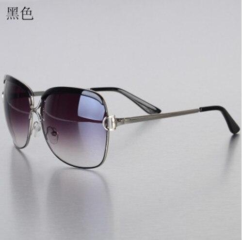 2013 Brand New senhoras óculos de sol pretos europa e nos estados unidos metal proteção uv óculos grátis frete