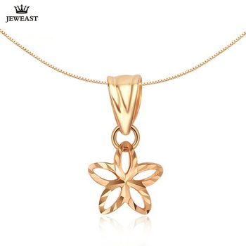 18K Pure Gold Pendant Real AU 750 Solid Gold Charm Beautiful Flowers Upscale Trendy Classic Party Fine Jewelry Hot Sell New 2020