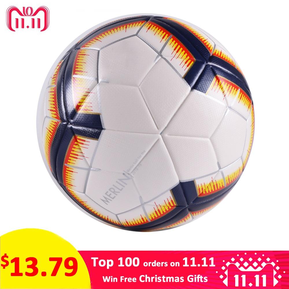 2018 Premier balón de fútbol tamaño oficial 5 fútbol PU Goal League pelota  de entrenamiento al aire libre regalo personalizado fútbol voetbal bola 70d0e1ed617fd