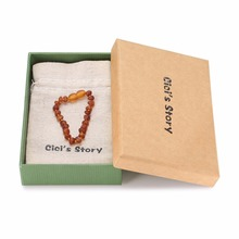 Baltic Amber Bracelet for Adult (Cognac Raw) – 2 Sizes