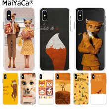 MaiYaCa fantástico Sr. Fox Simple suave TPU casos de Color de moda cubierta para iPhone 8 7 6 6 S Plus X 10 5 5S SE XR XS.(China)