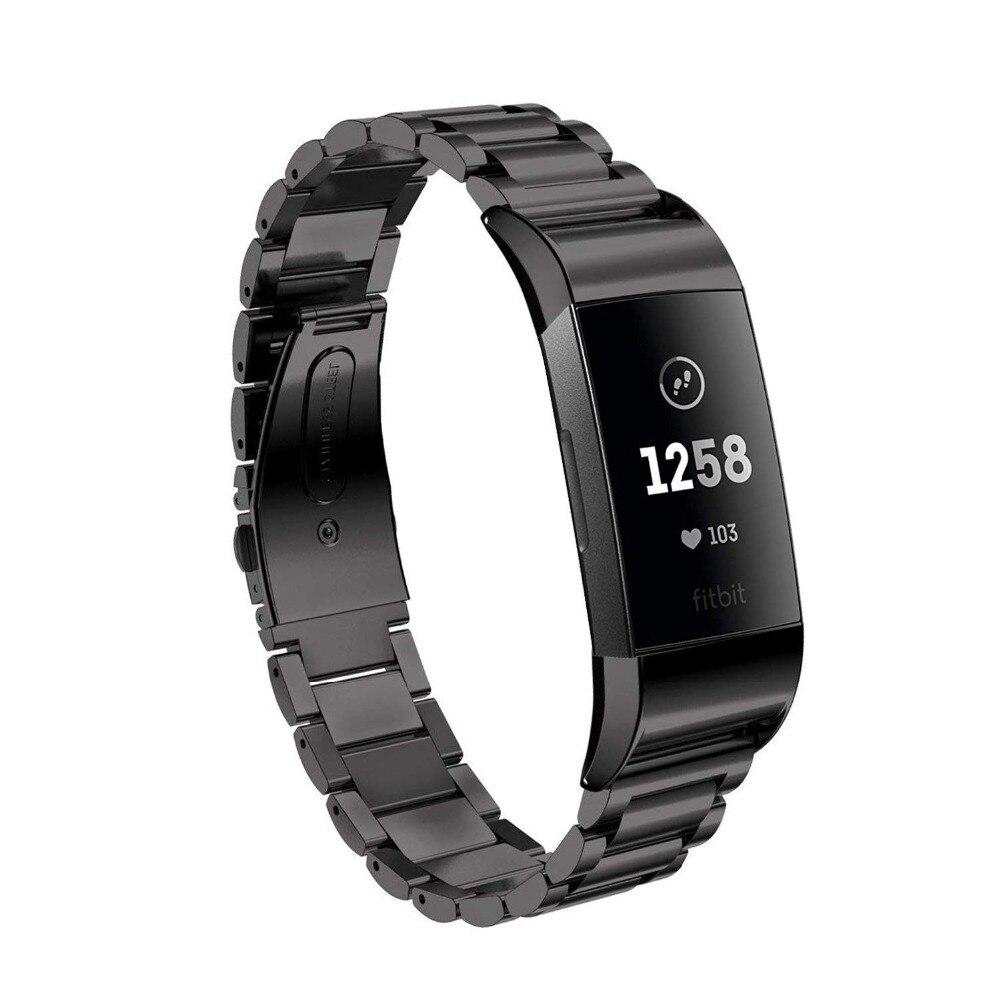 Link armband für fitbit gebühr 3 strap band Ersatz gürtel edelstahl smartwatch für fitbit gebühr 3 uhr Zubehör