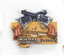 Montana Vigilante Code tour memorabilia refrigerator stickers