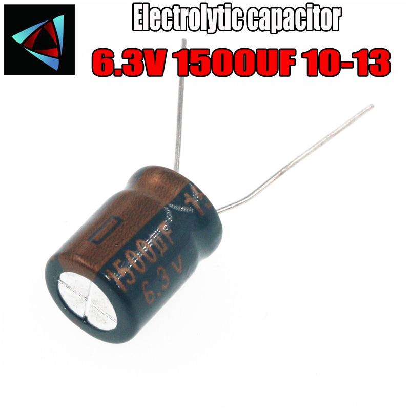 8PCS Higt Quality 6.3V 1500UF 10-13mm 1500UF 6.3V 10*13 Electrolytic Capacitor