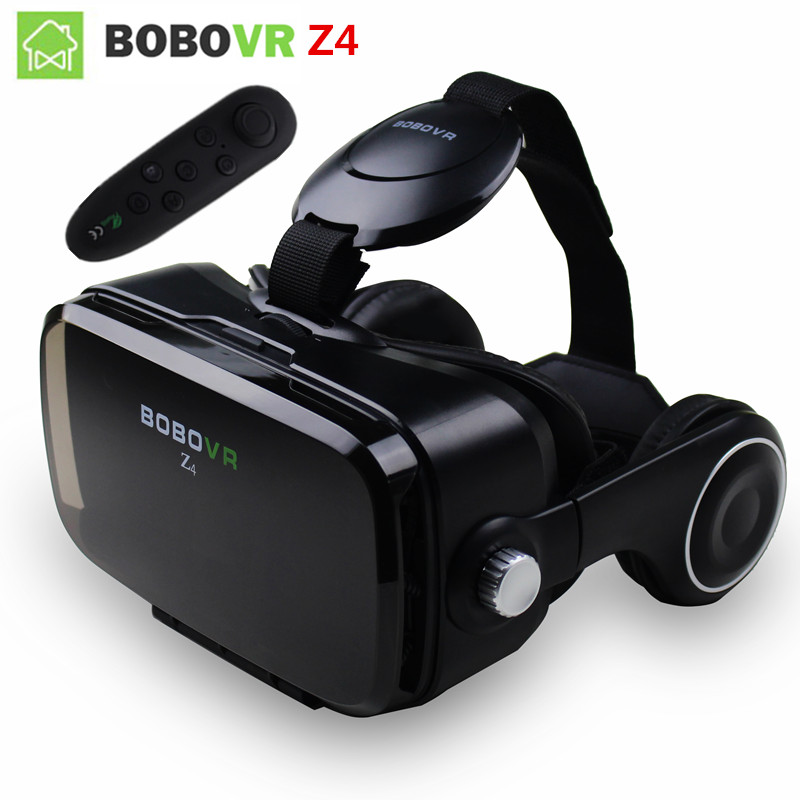 BOBOVR Z4 Bobo Vr Virtual Reality Goggles Mobile 3D VR Video Glasses gafas Helmet Cardboard VR Headset For 4.7-6.2 smartphone original bobovr z4 leather 3d cardboard helmet virtual reality vr glasses headset stereo box bobo vr for 4 6 mobile phone