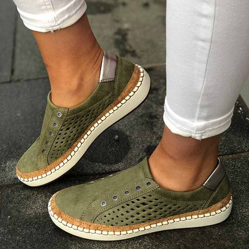 Для женщин летние ботинки на плоской подошве 2019 zapatos mujer вырезать Винтаж из флока светильник простого материала; мягкая обувь для женщин; Sapato Chaussure Женская обувь