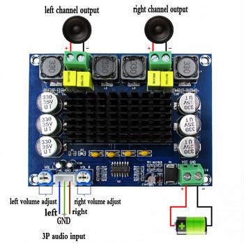 TPA3116D2 dwukanałowy stereofoniczny dźwięk cyfrowy wysokiej mocy płyta wzmacniacza zasilania 2*120W XH-M543 tanie i dobre opinie TCXRE 101-130 W 2 (2 0)