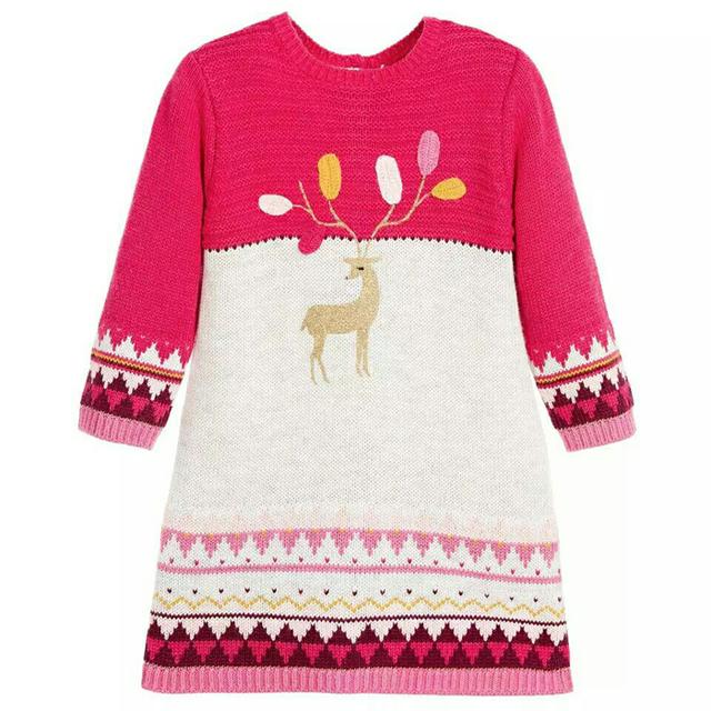 3-8 anos de idade CATIMINI meninas novas vestidos de 2014 da menina do bebê Colorido criança de manga longa Francês marca puro algodão vestido