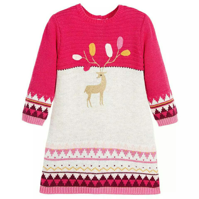 3-8 year old CATIMINI new girls dresses 2014 baby girl Colorful child long sleeve French brand pure cotton dress