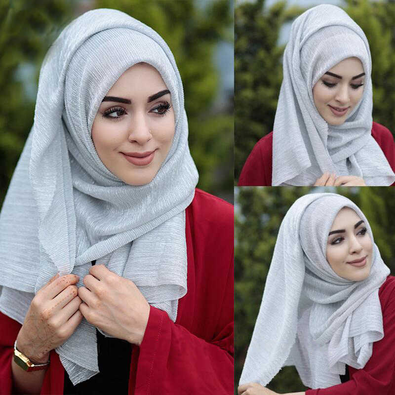 75*180CM Muslim Woman Hijab Scarf Long Soft Arab Headscarf Turban foulard Full Cover Cap Islamic Instant Wrap Shawl Head Scarves