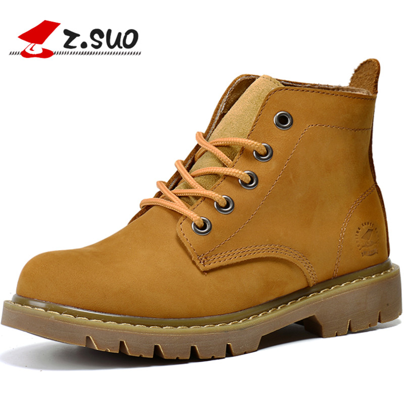 Z Suo Women S Boots Genuine Leather Fashion Woman Boots High Grade Quality Leisure Boots Ankle