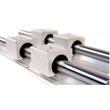 SBR12 12mm Linear Rail ความยาว 300 มม.400 มม.500 มม.600 มม.700 มม.800 มม.คู่มือเชิงเส้นกับ SBR12UU Linear BLOCK CNC Part