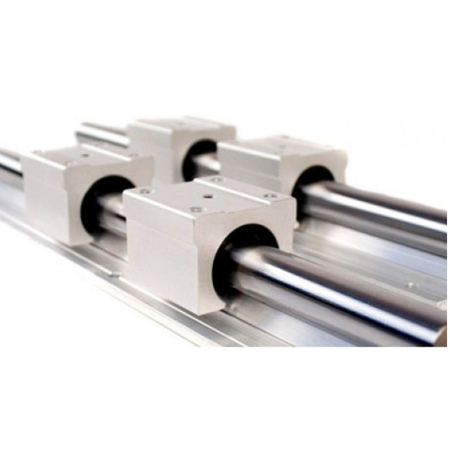 SBR12 12mm guía lineal 300mm 400mm 500mm 600mm 700mm 800mm guía lineal con bloque lineal SBR12UU pieza cnc