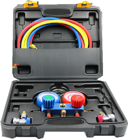 Precision Household Refrigeration Air Conditioning Manifold Gauge Maintenence Tools Car Set With Carrying Case Adjust Connector