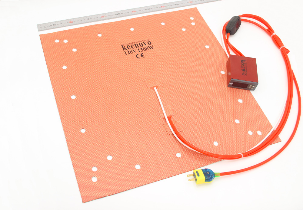 "Keenovo 실리콘 히터 CR 10 s5 3d 프린터 히트 베드 빌드 플레이트 가열 패드 20 ""듀얼 가열 영역 + 통합 디지털 컨트롤러-에서전기식 보온패드부터 홈 & 가든 의  그룹 1"