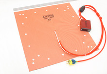 Keenovo Silicone Heater CR-10 S5 3D Printer Heatbed Build Plate Heating Pad 20″ Dual Heating Zones+Integrated Digital Controller