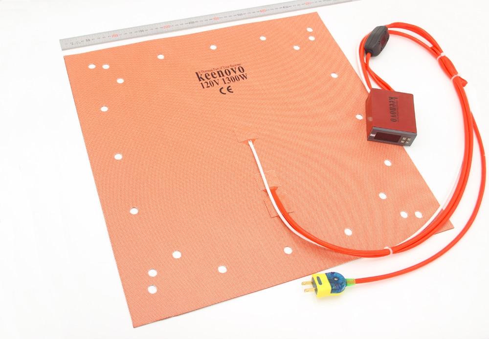 """Ev ve Bahçe'ten Elektrikli Isıtma Pedleri'de Keenovo Silikon Isıtıcı CR 10 S5 3D Yazıcı Heatbed Yapı Plaka isıtma pedi 20 """"Çift Isıtma Bölgeleri + Entegre dijital kontrolör'da  Grup 1"""