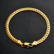 New Women OL Bracelet Gold Plated Twisted 5MM Chain Bracelet Classic Bangle For Women Fashion Jewelry Wholesale S242