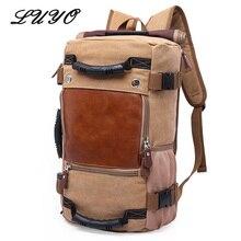 Luyo многофункциональный большой Ёмкость рюкзак Для мужчин Товары для путешествий Сумки Чемодан Duffle функциональные Duffel Mochila Militar