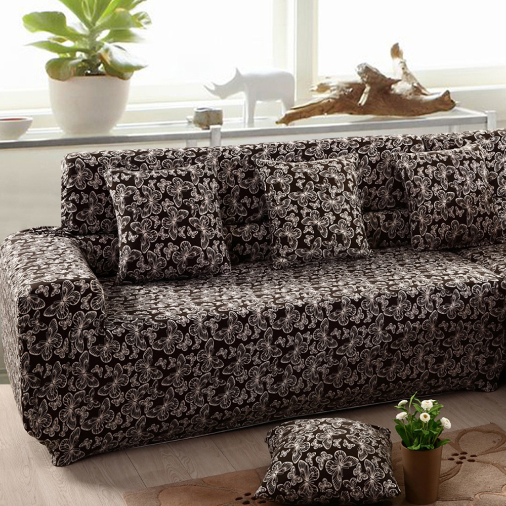 Yazi Chic Butterfly Stretch Polyester One Two Three Seater Sofa Couch  Slipcover Furniture Protector Cover  In Sofa Cover From Home U0026 Garden On ...