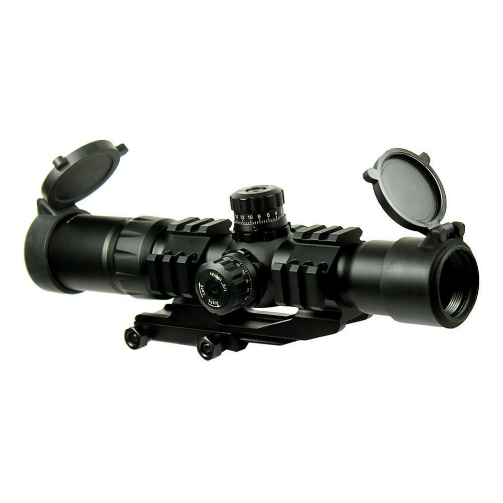 Tactical 1.5-4x 30  Rifle Scope Chevron Reticle with Cantilever mount  Hunting Shooting fit AR15 .223 5.56mm HT6-0065 1 5 4 28 rifle scope rifle scope shooting hunting pp1 0165